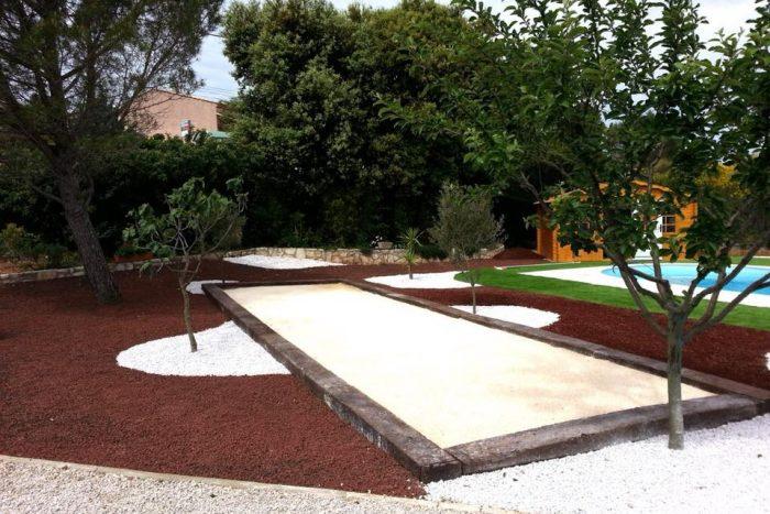 A04-Aménagement Jardin avec Création Terrain de Pétanque à Nice (06)