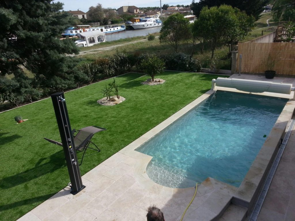 Modèle 02 Aménagement Extérieur Jardin Piscine France - Piscines HDP